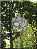 TM1469 : Thorndon Village sign by Geographer