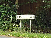 TM1469 : High Street sign by Geographer