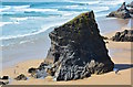 SW8469 : Bedruthan Step: Redcove Island by Edmund Shaw