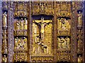 SJ3589 : Crucifixion Scene (Reredos Detail) by David Dixon