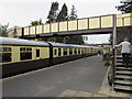 SP0229 : Winchcombe railway station footbridge by Jaggery