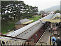 SP0229 : Two trains in Winchcombe railway station by Jaggery