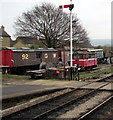 SP0229 : Rolling stock beyond the eastern end of Winchcombe railway station by Jaggery