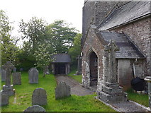 SS6138 : St Michael & All Angels church, Loxhore: churchyard (vii) by Basher Eyre
