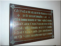 SS6138 : St Michael & All Angels church, Loxhore: memorial (iii) by Basher Eyre