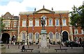 SP8113 : Aylesbury Crown Court in the Market Square by Steve Daniels