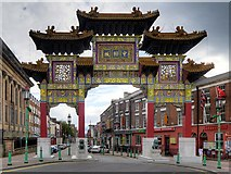SJ3589 : Chinatown Gate, Nelson Street by David Dixon