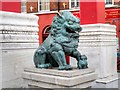 SJ3589 : Chinese Lion on Nelson Street by David Dixon