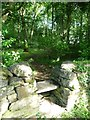 SN5882 : Stile entrance into Parc Natur Penglais by Christine Johnstone