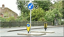 J3773 : Traffic island, North Road, Belfast (July 2015) by Albert Bridge