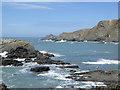 SS2224 : Rocky coast by Hartland Quay, Devon by Roger  Kidd