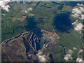 NS8437 : Broken Cross opencast coal mine from the air by Thomas Nugent