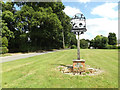TM0969 : Wickham Skeith Village sign by Adrian Cable