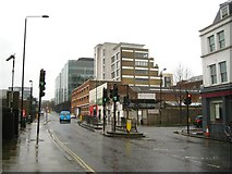 TQ3083 : North on York Way, King's Cross, London, in the rain by Robin Stott