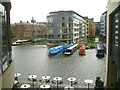 TQ3083 : Grand Union Canal basin seen from the Guardian's offices, King's Cross, London by Robin Stott