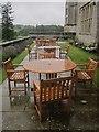 SX7384 : Bovey Castle in the rain by Derek Harper