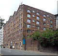 NZ2463 : Former warehouse, The Close, Newcastle by Stephen Richards