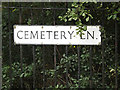 TM1746 : Cemetery Lane sign by Adrian Cable
