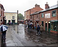 SO9491 : Rainy Canal Street in the Black Country Living Museum, Dudley by Jaggery