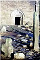 Q4006 : Ogham Stone and Cross, Kilmalkedar Church by Chris Andrews
