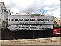 TM1845 : Sharman Caravans Ltd sign by Adrian Cable