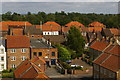 NZ4112 : Yarm, The Old Market, from the railway viaduct by Christopher Hilton