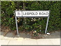 TM1845 : Leopold Road sign by Adrian Cable