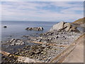 NJ8065 : Shore at north end of Crovie Main Street by Stanley Howe