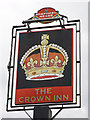 TQ4162 : The Crown Inn sign by Oast House Archive