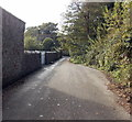SS9082 : Cycle route 885 towards the River Ogmore, Pen-y-cae by Jaggery