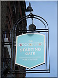 TQ3090 : Sign for The Starting Gate, Buckingham Road / St. Michael's Terrace, N22 by Mike Quinn