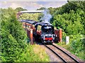 SD8010 : 34092 'City of Wells' Crossing the Metrolink Bridge at Bury by David Dixon