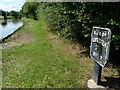 SP6179 : Milepost along the Grand Union Canal by Mat Fascione