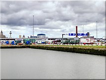 SJ3290 : Alfred Dock and Stena Line Vehicle Ferry Terminal, Birkenhead by David Dixon