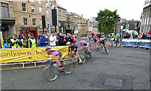 SE3406 : Elite ladies competing in the British Cycling town centre race Barnsley by Steve  Fareham