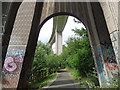 NZ2664 : Detail of Metro viaduct, Newcastle by Stephen Richards