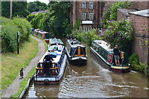 SK0418 : Narrowboats on the Trent & Mersey Canal at Rugeley by David Martin