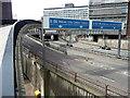 NZ2564 : Motorway near Carliol Square, Newcastle by Stephen Richards