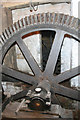 SP0632 : Stanway water mill -pit wheel by Chris Allen