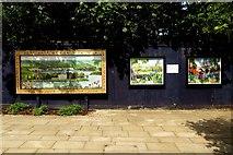 TQ1673 : Murals in the Diamond Jubilee Gardens by Steve Daniels