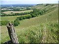 TQ3313 : Looking along the scarp of the South Downs by Marathon