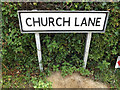 TM1570 : Church Lane sign by Adrian Cable