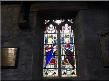 SK2381 : St Michael, Hathersage: stained glass window (II) by Basher Eyre