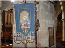 SK2381 : St Michael, Hathersage: banner by Basher Eyre