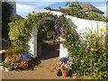 TF5281 : Arch in Marigold Cottage garden by Richard Hoare