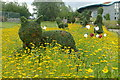 SE2853 : Cheshire Cat in the Wonderland Topiary Garden by Graham Hogg