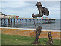 SX9472 : Hiking on an Empty Stomach by Teignmouth Pier by Chris Reynolds