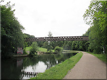 SE2436 : Pipe bridge at Hunters Greave by Stephen Craven