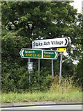 TM1169 : Roadsigns on the A140 Ipswich Road by Adrian Cable
