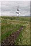 NS5177 : Powerlines and track by Richard Sutcliffe